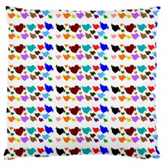 A Creative Colorful Background With Hearts Large Cushion Case (one Side)