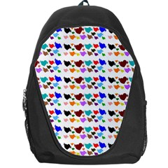 A Creative Colorful Background With Hearts Backpack Bag