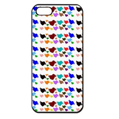 A Creative Colorful Background With Hearts Apple Iphone 5 Seamless Case (black)