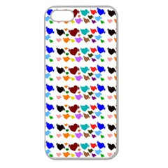 A Creative Colorful Background With Hearts Apple Seamless iPhone 5 Case (Clear)