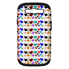A Creative Colorful Background With Hearts Samsung Galaxy S Iii Hardshell Case (pc+silicone)