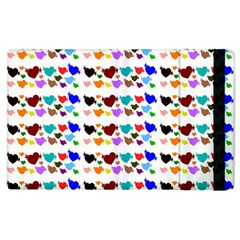 A Creative Colorful Background With Hearts Apple Ipad 2 Flip Case