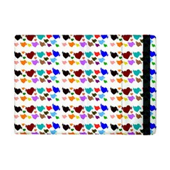 A Creative Colorful Background With Hearts Apple Ipad Mini Flip Case