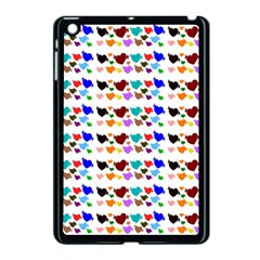 A Creative Colorful Background With Hearts Apple iPad Mini Case (Black)