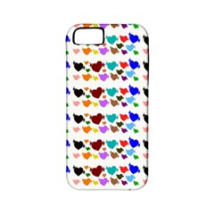 A Creative Colorful Background With Hearts Apple Iphone 5 Classic Hardshell Case (pc+silicone)