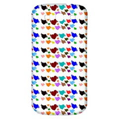 A Creative Colorful Background With Hearts Samsung Galaxy S3 S Iii Classic Hardshell Back Case