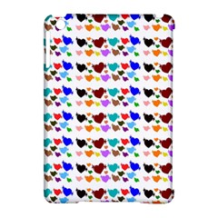 A Creative Colorful Background With Hearts Apple iPad Mini Hardshell Case (Compatible with Smart Cover)