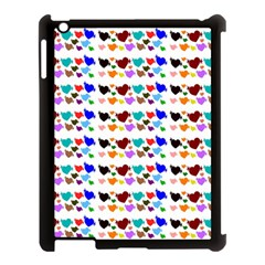 A Creative Colorful Background With Hearts Apple iPad 3/4 Case (Black)