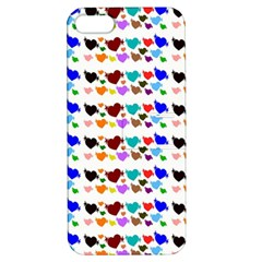 A Creative Colorful Background With Hearts Apple Iphone 5 Hardshell Case With Stand
