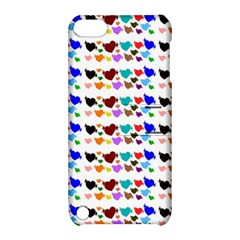 A Creative Colorful Background With Hearts Apple iPod Touch 5 Hardshell Case with Stand