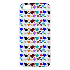 A Creative Colorful Background With Hearts Apple Iphone 5 Premium Hardshell Case