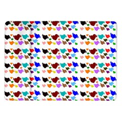 A Creative Colorful Background With Hearts Samsung Galaxy Tab 10.1  P7500 Flip Case