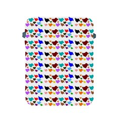 A Creative Colorful Background With Hearts Apple iPad 2/3/4 Protective Soft Cases