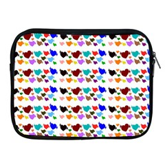 A Creative Colorful Background With Hearts Apple iPad 2/3/4 Zipper Cases