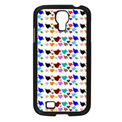 A Creative Colorful Background With Hearts Samsung Galaxy S4 I9500/ I9505 Case (Black)