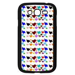 A Creative Colorful Background With Hearts Samsung Galaxy Grand DUOS I9082 Case (Black)
