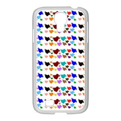 A Creative Colorful Background With Hearts Samsung Galaxy S4 I9500/ I9505 Case (white)