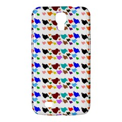 A Creative Colorful Background With Hearts Samsung Galaxy Mega 6.3  I9200 Hardshell Case