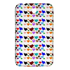 A Creative Colorful Background With Hearts Samsung Galaxy Tab 3 (7 ) P3200 Hardshell Case