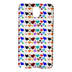 A Creative Colorful Background With Hearts Samsung Galaxy Note 3 N9005 Hardshell Case