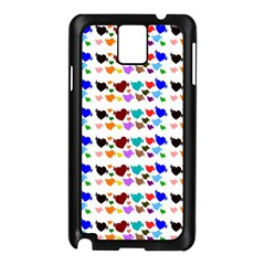 A Creative Colorful Background With Hearts Samsung Galaxy Note 3 N9005 Case (Black)