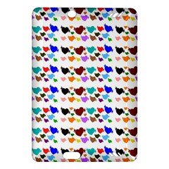 A Creative Colorful Background With Hearts Amazon Kindle Fire Hd (2013) Hardshell Case