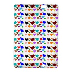 A Creative Colorful Background With Hearts Kindle Fire HDX 8.9  Hardshell Case