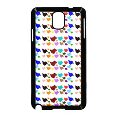 A Creative Colorful Background With Hearts Samsung Galaxy Note 3 Neo Hardshell Case (black)