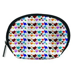 A Creative Colorful Background With Hearts Accessory Pouches (Medium)