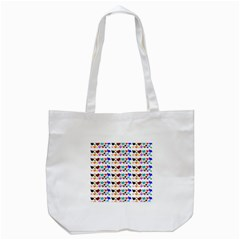 A Creative Colorful Background With Hearts Tote Bag (white)