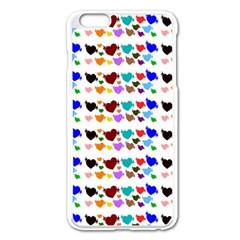 A Creative Colorful Background With Hearts Apple iPhone 6 Plus/6S Plus Enamel White Case