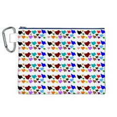 A Creative Colorful Background With Hearts Canvas Cosmetic Bag (XL)