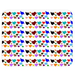 A Creative Colorful Background With Hearts Double Sided Flano Blanket (Medium)