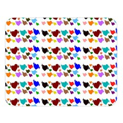 A Creative Colorful Background With Hearts Double Sided Flano Blanket (Large)