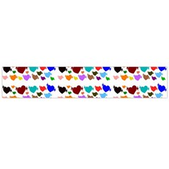 A Creative Colorful Background With Hearts Flano Scarf (Large)