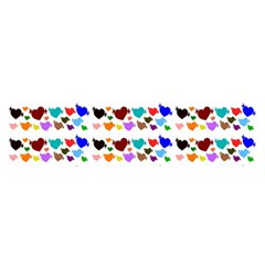A Creative Colorful Background With Hearts Satin Scarf (Oblong)