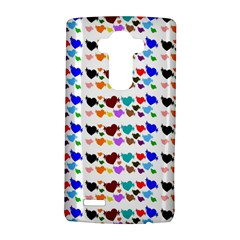A Creative Colorful Background With Hearts Lg G4 Hardshell Case