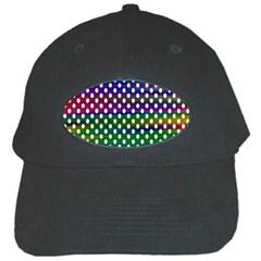 Digital Polka Dots Patterned Background Black Cap