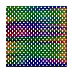 Digital Polka Dots Patterned Background Tile Coasters