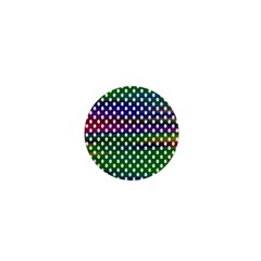 Digital Polka Dots Patterned Background 1  Mini Buttons