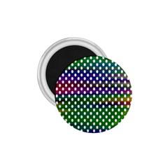 Digital Polka Dots Patterned Background 1.75  Magnets