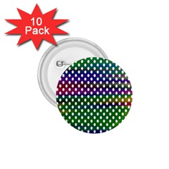 Digital Polka Dots Patterned Background 1.75  Buttons (10 pack)