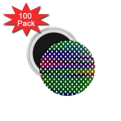 Digital Polka Dots Patterned Background 1.75  Magnets (100 pack)