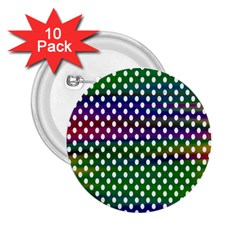 Digital Polka Dots Patterned Background 2.25  Buttons (10 pack)