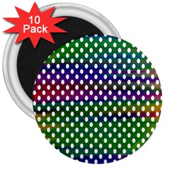 Digital Polka Dots Patterned Background 3  Magnets (10 pack)