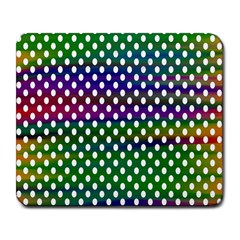 Digital Polka Dots Patterned Background Large Mousepads