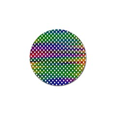 Digital Polka Dots Patterned Background Golf Ball Marker (10 Pack)