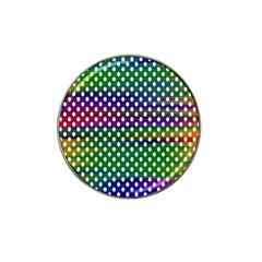 Digital Polka Dots Patterned Background Hat Clip Ball Marker (10 Pack)