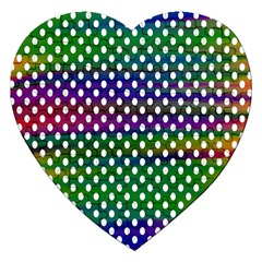 Digital Polka Dots Patterned Background Jigsaw Puzzle (Heart)