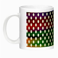 Digital Polka Dots Patterned Background Night Luminous Mugs